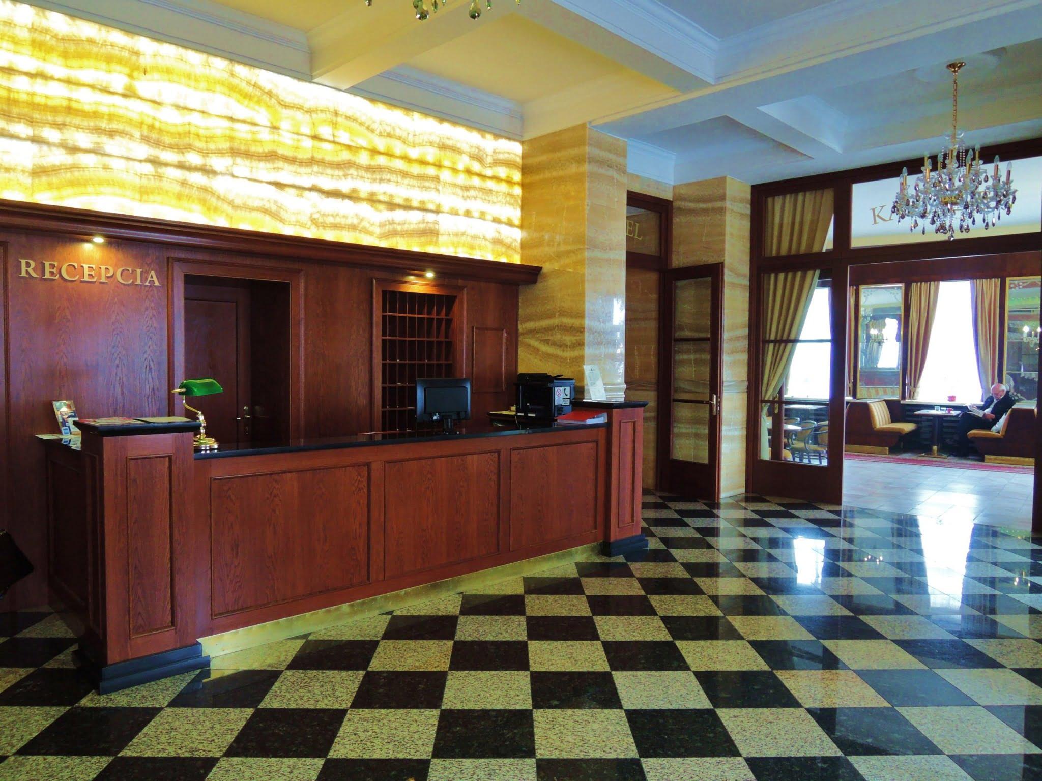 recepcia hotel Európa