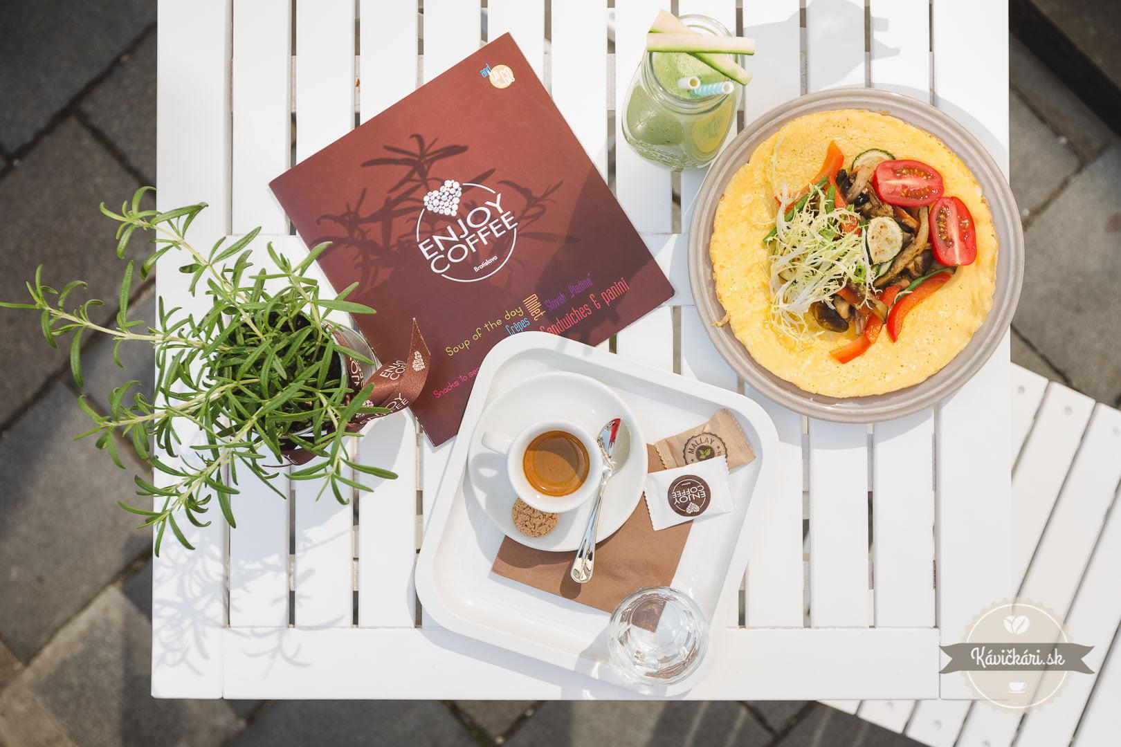 raňajky v  Enjoy coffee Bratislava