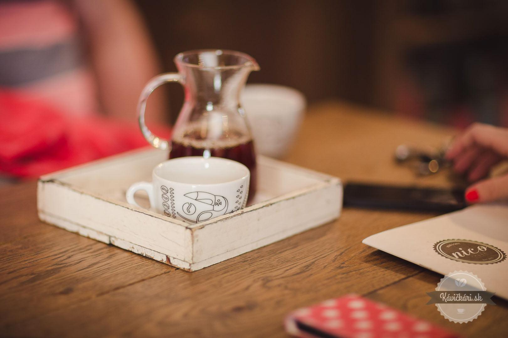 káva a jej príprava v NICO Caffé prešov