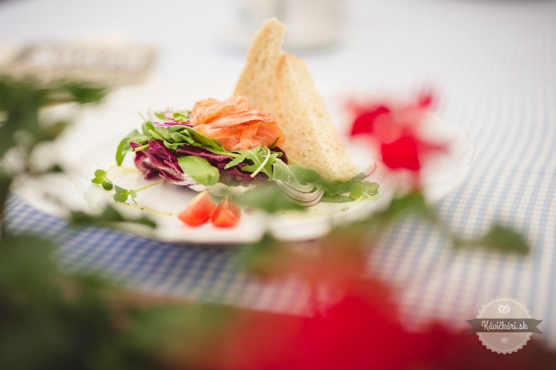 domáci údený losos reštaurácia Korzo