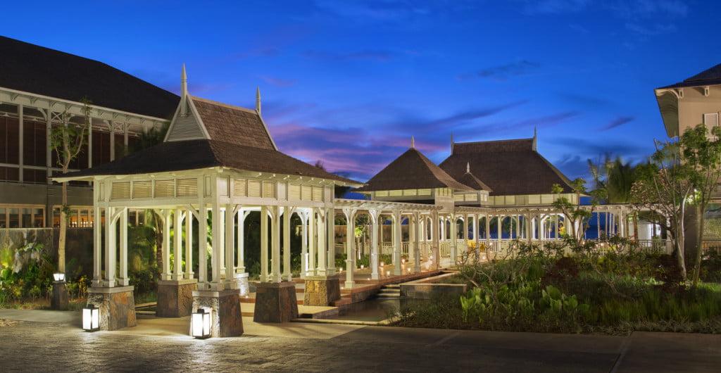 The St.Regis Mauritius resort welcome pavillion