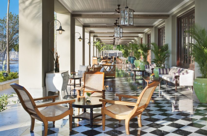St. Regis Mauritius resort bar veranda