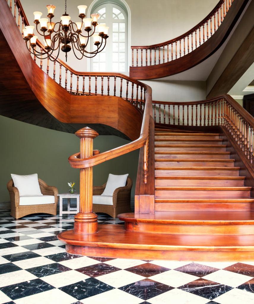 The St. Regis Mauritius resort grand staircase