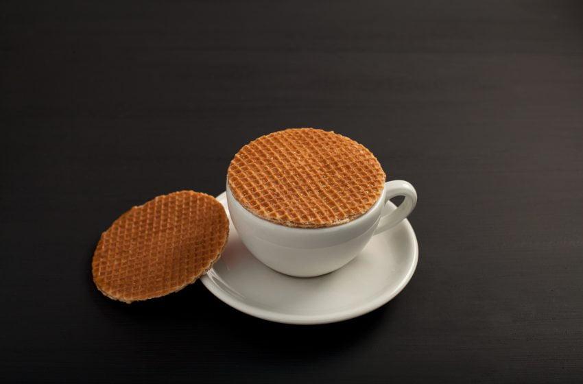 wafle s kávou
